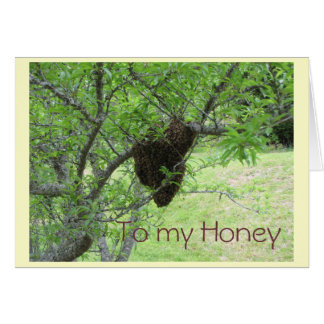 To my Honey Greeting Card