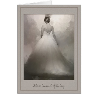 To my Husband Beautiful Bride dreaming wedding Greeting Card