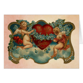 To My Love Vintage Valentine's Day Card
