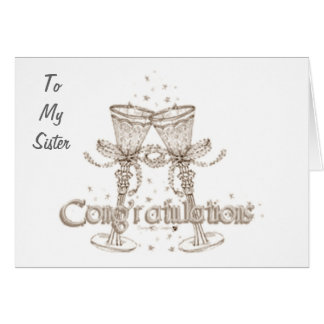 TO MY SISTER CONGRATS WEDDING DAY CARDS