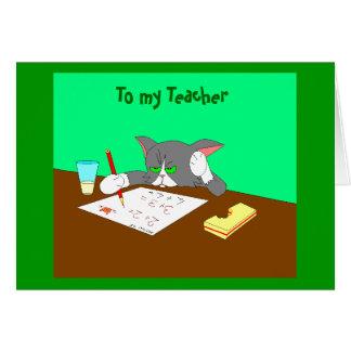 , To my Teacher Card
