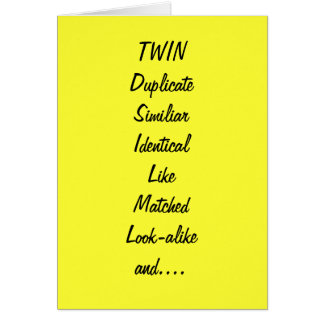 TO MY TWIN SIS AND BEST FRIEND BIRTHDAY CARD