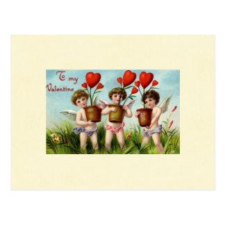 To My Valentine Angel Cherubs Postcard