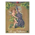 To My Valentine Cherub Vintage Valentine Post Card