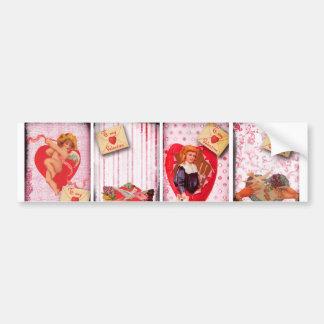 To My Valentine Vintage Valentine's Day Cupid Bumper Stickers
