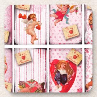 To My Valentine Vintage Valentine's Day Cupid Coaster