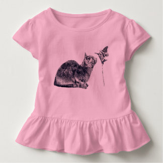 To New Friendships! Cat and butterfly Toddler T-Shirt