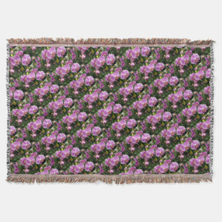 to orchid_fresh_flower throw blanket