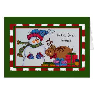 To Our Dear Friends Christmas Card