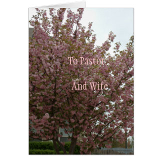 To Pastor And Wife Greeting Card