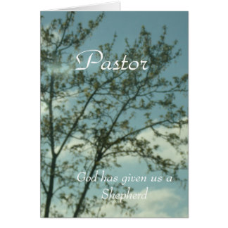 To Pastor Greeting Card