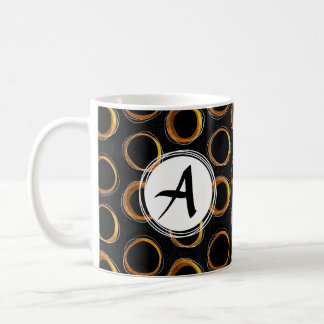 To pave Eclipse Mid-Century Modern Black & Gold Coffee Mug