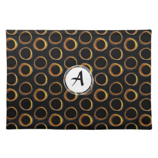 To pave Eclipse Mid-Century Modern Black & Gold Placemat