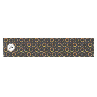 To pave Eclipse Mid-Century Modern Black & Gold Short Table Runner