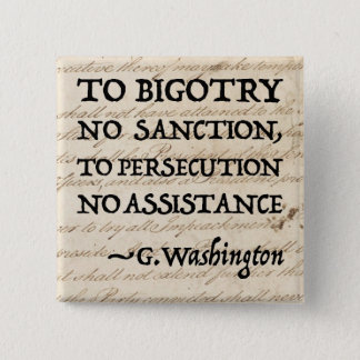 To Persecution No Assistance 15 Cm Square Badge