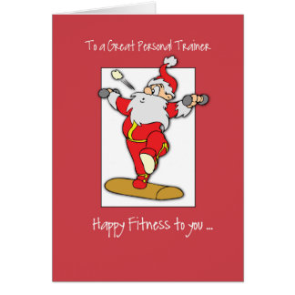 To Personal Trainer Fitness Exercise Christmas wit Card