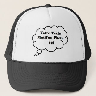 To personalize with your photograph or text trucker hat