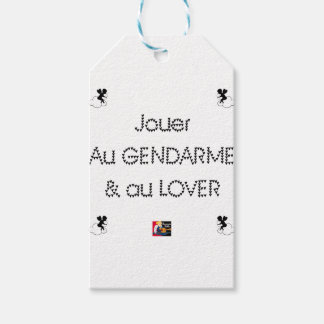 To play the GENDARME and COILING - Word games Gift Tags