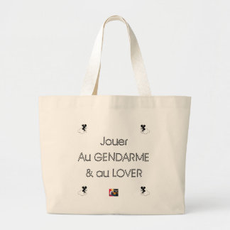 To play the GENDARME and COILING - Word games Large Tote Bag