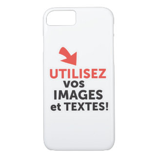 To print your designs in line DIY in French iPhone 8/7 Case