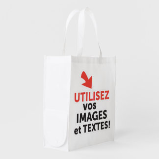 To print your designs in line DIY in French Reusable Grocery Bag