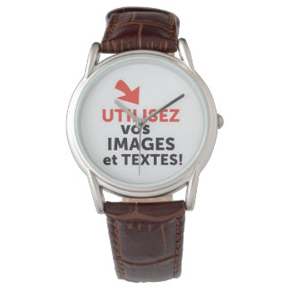 To print your designs in line DIY in French Watch