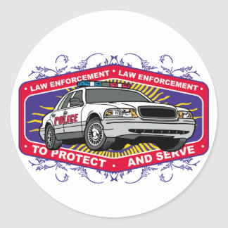 To Protect and Serve Classic Round Sticker