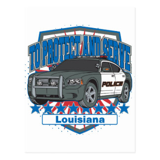 To Protect and Serve Police Car State of Louisiana Postcard