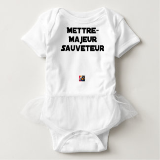 TO PUT MAJOR RESCUER - Word games Baby Bodysuit