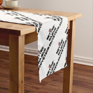 TO PUT MAJOR RESCUER - Word games Short Table Runner