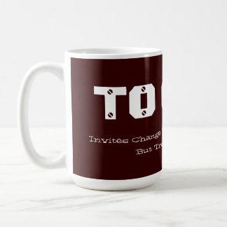 To QUIT Invites Change We Barely Understand Basic White Mug