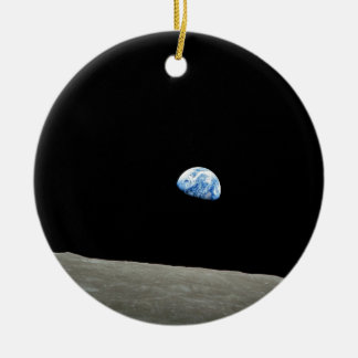 To raise Earth on the Moon Ceramic Ornament
