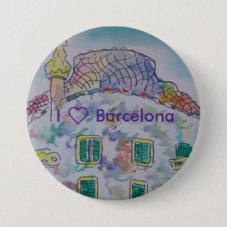 To slice of Barcelona 7.5 Cm Round Badge