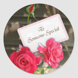 To Someone Special - Roses Round Sticker