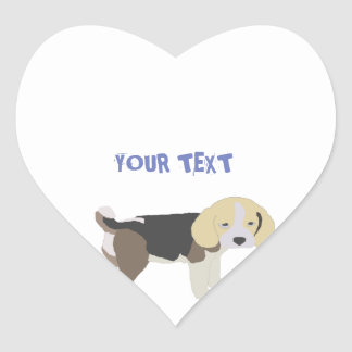 to sticker of drawing of dog beagle