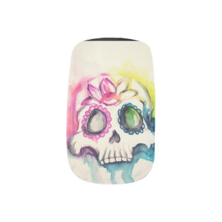 to sugar skull MGP art for nails Minx Nail Art