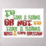 To Take a Sauna Poster