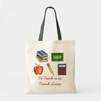 To Teach is to Touch Lives Teacher Teaching Tote