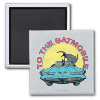 To The Batmobile - Distressed Icon Magnet