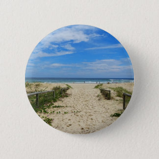 To the Beach 6 Cm Round Badge