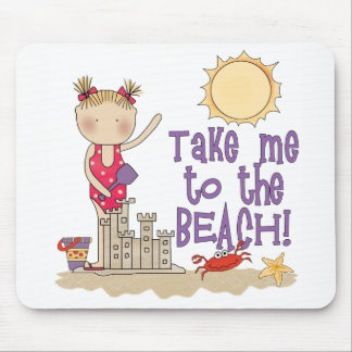 To the Beach (Girl) Mouse Pad