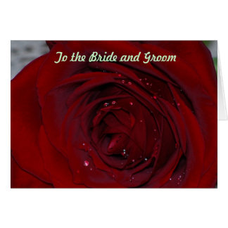 to the bride and groom card