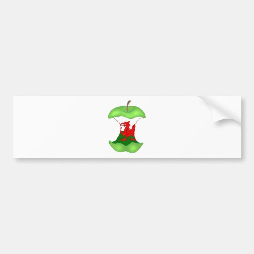 'to the core' Wales Bumper Sticker