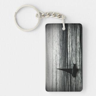 To the drift Double-Sided rectangular acrylic key ring