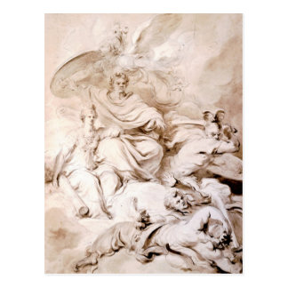 To the Genius of Franklin by Jean-Honore Fragonard Postcard