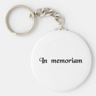 To the memory of... keychains