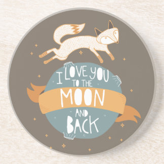 """To the moon and back"" Drink Coaster"