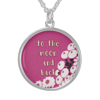 To the Moon and Back Love Round Pendant Necklace
