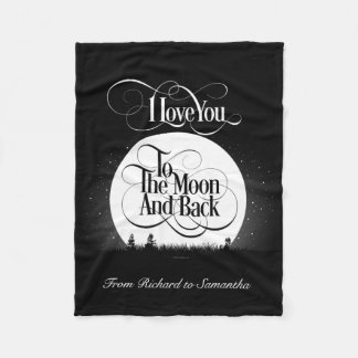 To The Moon And Back (personalized) Fleece Blanket