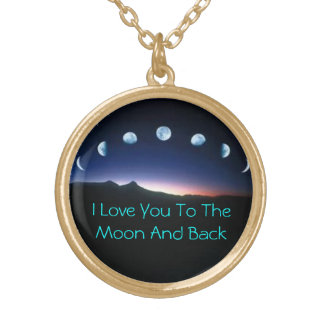 To The Moon And Back Round Pendant Necklace